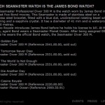 Omega website (2008): Which Seamaster watch is the James Bond watch