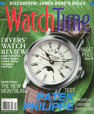 """WatchTime, """"Discovered: James Bond's Rolex"""" (magazine cover)"""