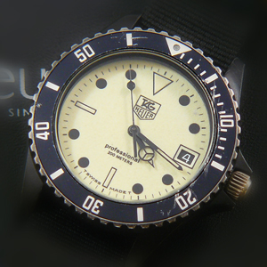 Rarely listed tag heuer pvd watch now available on ebay james bond watches blog - Heuer dive watch ...
