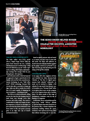 "Revolution magazine, ""Secret History: The Seiko Watches of 007,"" by Dell Deaton"