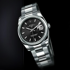 Rolex Oyster Perpetual Date reference 115200 with black dial