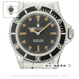 "Rolex Submariner 5513 buzz-saw James Bond gadget-watch prop from ""Live and Let Die"""