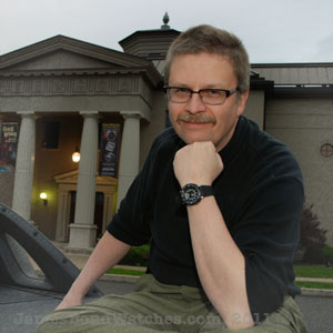 "Dell Deaton, Guest Curator, ""Bond Watches, James Bond Watches"" exhibit, National Watch & Clock Museum"
