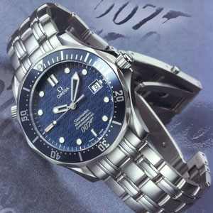 Limited to 10,007 pieces, the 40th Anniversary James Bond watch, an Omega  Seamaster 2537.80