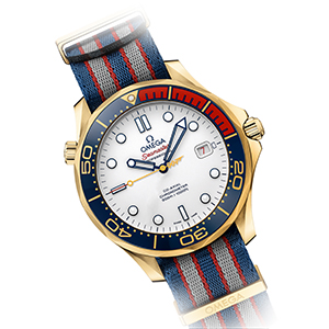 "Gold Omega Seamaster James Bond watch: ""Commander's Watch"" Limited Edition, reference 212.62.41.20.04.001"